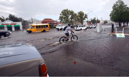 A rare September cloudburst in San Diego. Photo by John Gastaldo.
