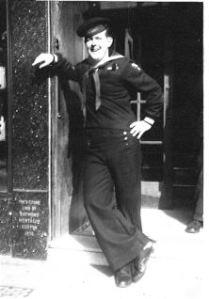 Jim Fudge in Southhampton, UK during WWII.